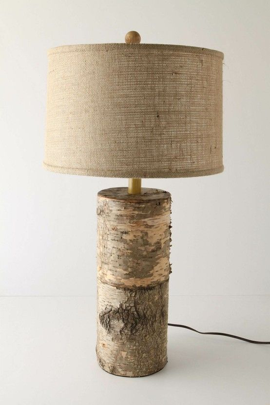 36 amazing diy log ideas rustic table lampswood - Lamp Shades For Table Lamps