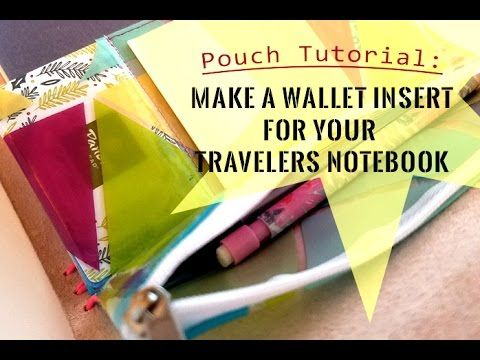 Pouch Tutorial: Make a wallet insert for your Travelers Notebook! - YouTube
