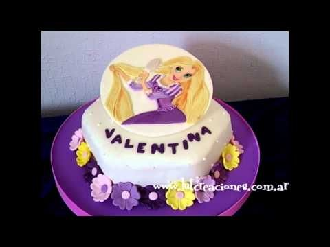 Torta Decorada Infantil de Princesas Rapunzel - Lut Creaciones arte y diseño
