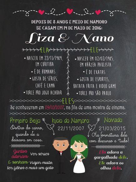 Chalkboard Casamento - FRETE GRÁTIS - Sereiarte