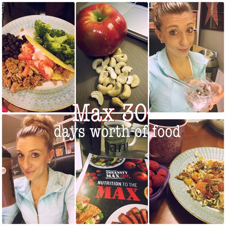 Insanity Max 30 Nutrition Guide and Meal Plan, Melanie Mitro, Progress update, What to eat, Days worth of food
