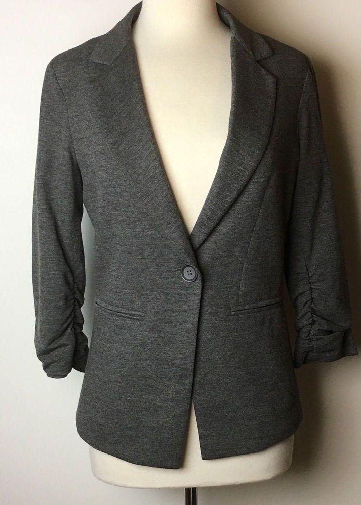 Women S Gibson Nordstrom Gray Blazer Jacket Dress Suit Coat 2
