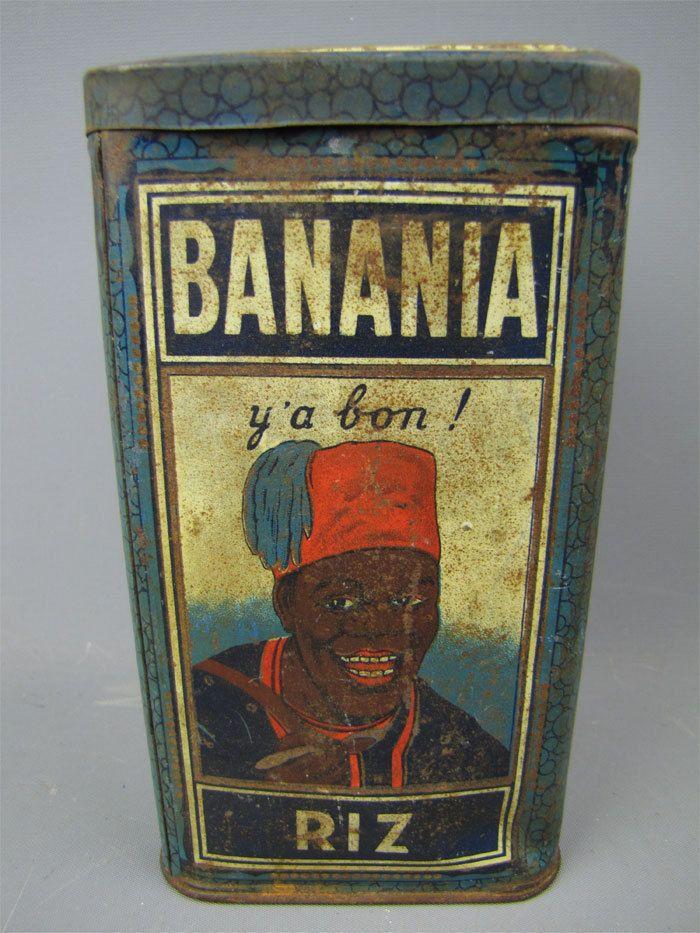 Y'a bon! Vintage Banania Riz French Algerian ? Rice Tin