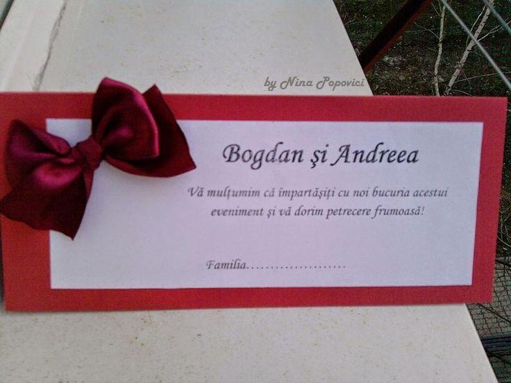 Despre invitatii si altele: Card masa handmade