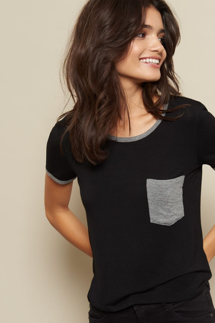 Tee time! Keep it casual with this cool midi ringer tee.