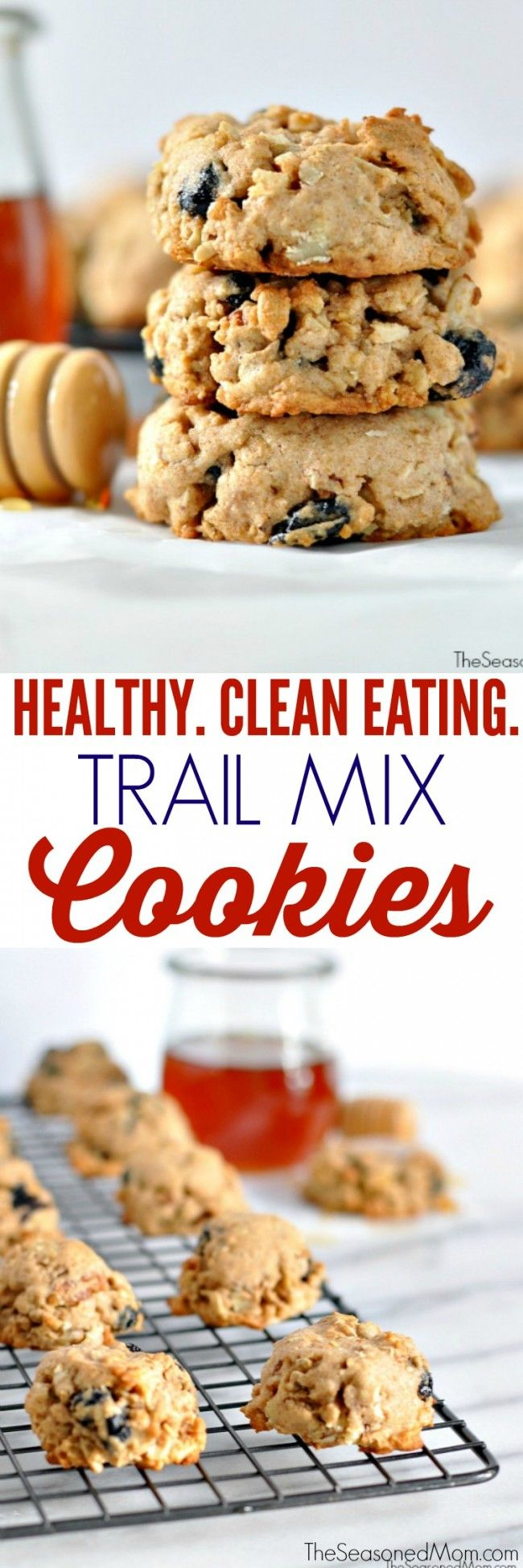 Healthy Trail Mix Cookies are the perfect treat that you don't have to feel guilty about.