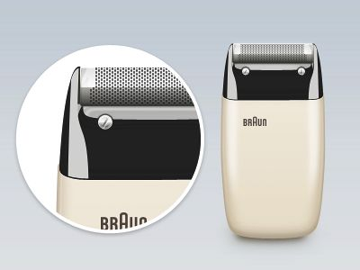 Dieter Rams. Braun Electric Shaver S60. 1958.