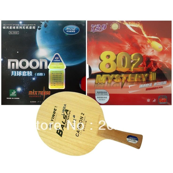 39.03$  Watch now - Pro Table Tennis Combo Racket Galaxy YINHE T-11+ with Moon Factory Tuned and RITC 729 802 Mystery III Long Shakehand FL   #shopstyle