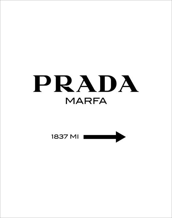 Typographic Art Prada Wall Art Inspirational by TheMotivatedType