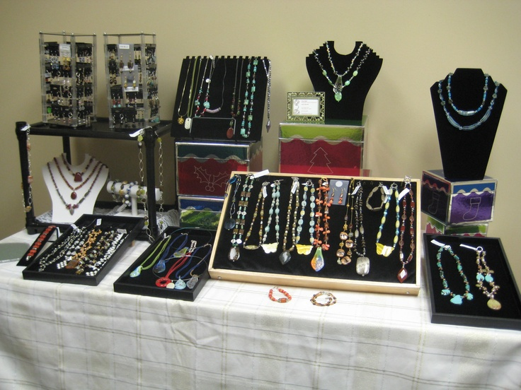 38 best images about jewelry displays on pinterest for Display necklaces craft fair