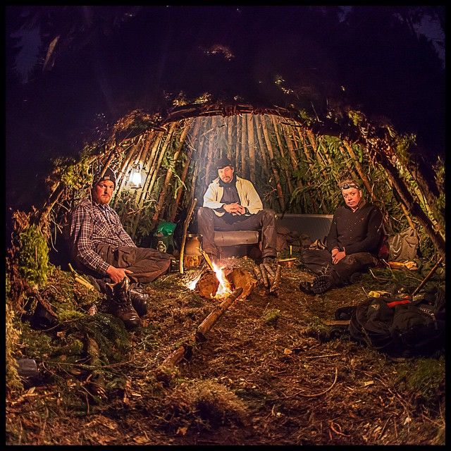 Camping Survival Skills: A Better Photo From Inside The Wikiup. #wikiup