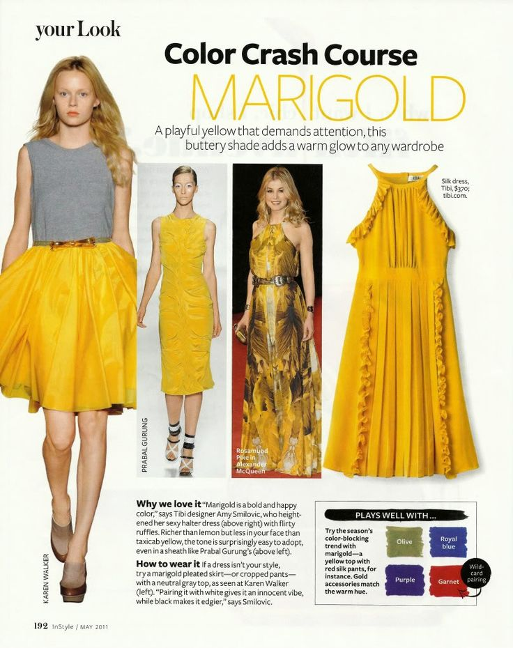 Marigold colored dresses