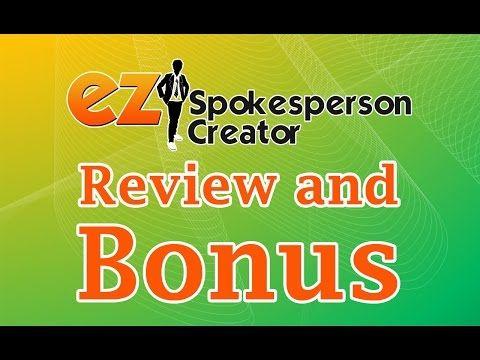 EZ Spokesperson Creator   Preview   Review   Demo   BONUS