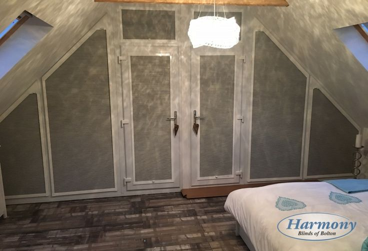 Shaped Perfect Fit Blinds in a Gable End Bedroom
