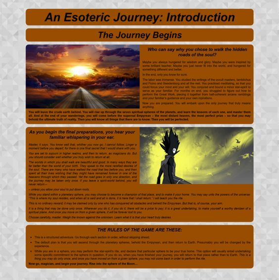 CYOA: An Esoteric Journey in 2019 | story | Cyoa, Journey