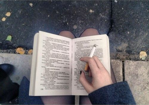 The woman | Reader | Smoker | Book | Smoking