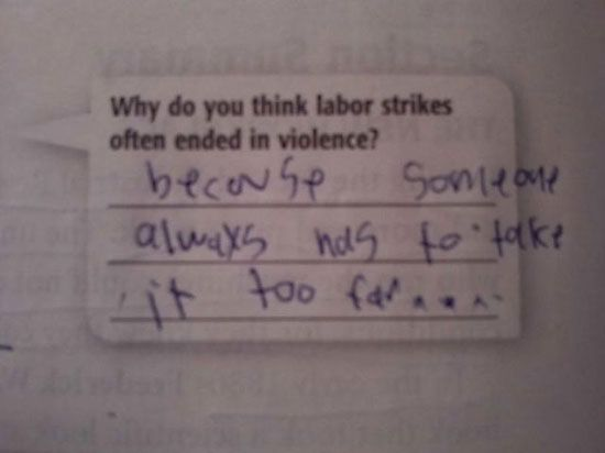 POPHANGOVER » Blog Archive » 15 Funny Exam Answers