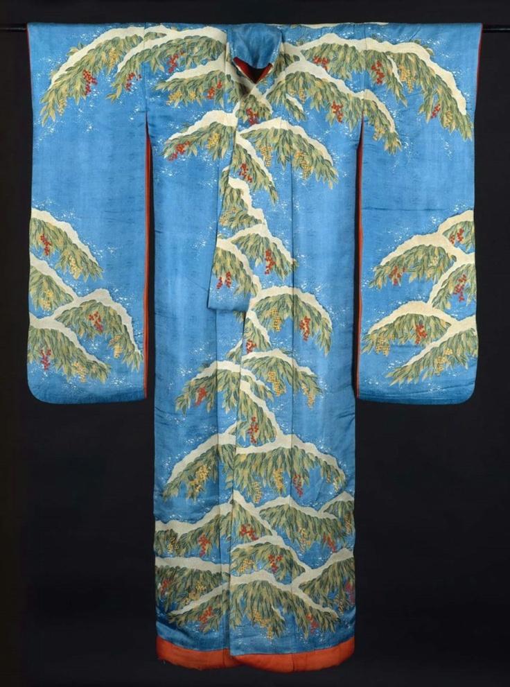 Japanese furisode kimono, Edo period (19th century)