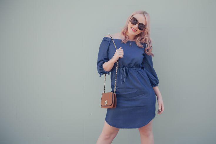 Denim Dress | The Blonde Silhouette