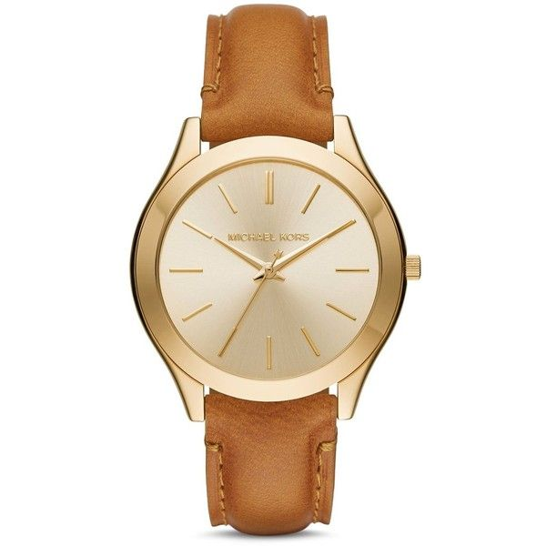 Michael Kors Slim Runway Watch, 42mm (260 CAD) ❤ liked on Polyvore featuring jewelry, watches, cream, michael kors watches, michael kors jewelry, michael kors, slim watches and cream jewelry