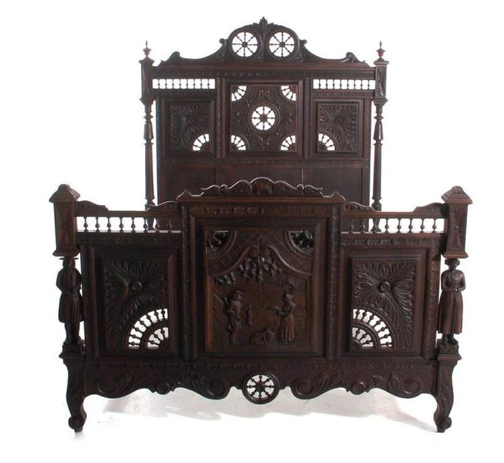 Buy online, view images and see past prices for French Breton carved walnut bed. Invaluable is the world's largest marketplace for art, antiques, and collectibles.