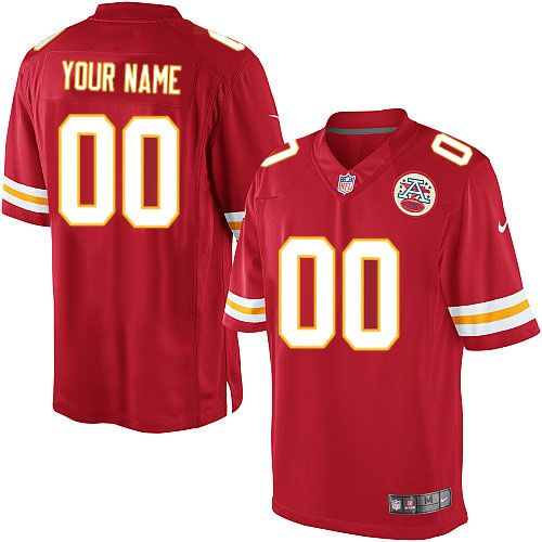 nike kansas city chiefs mens customized limited red team color nfl jersey