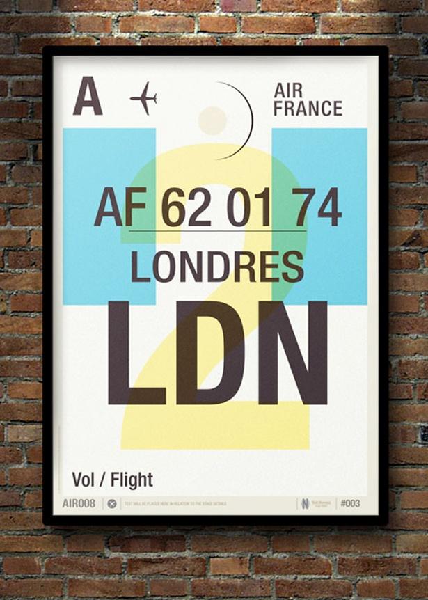 Cool Flight Tag Prints