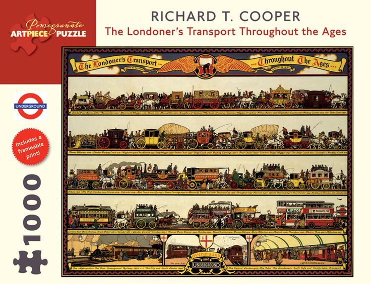 Pomegranate Jigsaw - Londoner s Transport by Richard T Cooper  (1000 pieces)