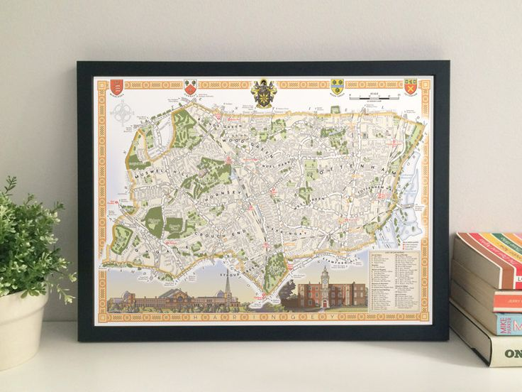 Haringey Borough illustrated map giclee print by thisismikehall