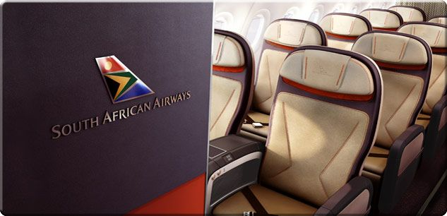 The interior of the new SAA Airbus A320