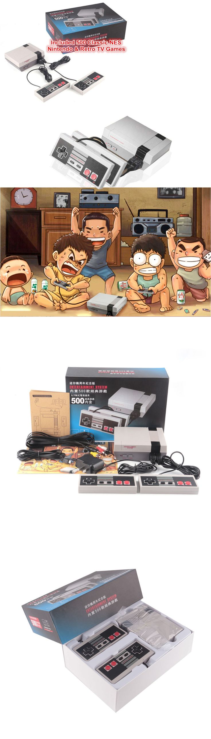 Other TV Video and Home Audio: Mini Classic Edition Nes Console Entertainment System +500 Retro Game Pal And Ntsc -> BUY IT NOW ONLY: $43.5 on eBay!