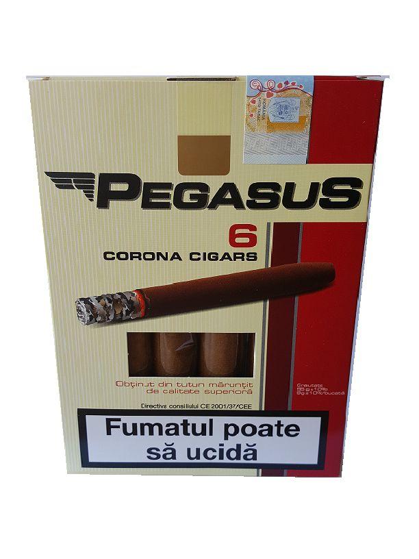 Tigari de foi 55 gr Pegasus obtinute din tutun maruntit Pachetul contine 6 tigari de foi din tutun maruntit de calitate superioara – greutate neta 55 gr. Acest produs se adreseaza exclusiv persoanelor peste 18 ani ! Fumatul dauneaza grav sanatatii tale si a celor din jur. Directiva consiliului CE 2001/37/CEE