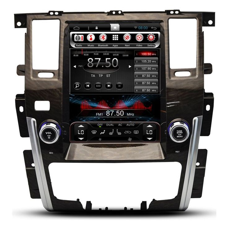 "10.4"" Tesla Vertical Screen Android Headunit Autoradio Head Unit Car Stereo GPS for Nissan Patrol 2009 2010 2011 2012 2013"