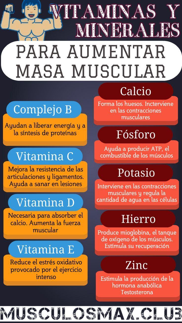 Vitaminas Y Minerales Esenciales Para Aumentar Masa Muscular