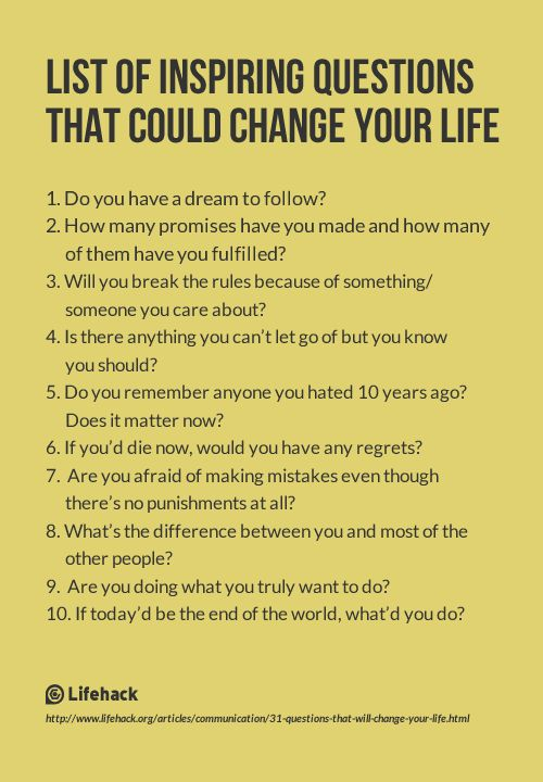 31 Questions That Will Change Your Life for the better! http://www.awesomehealthandfitness.com