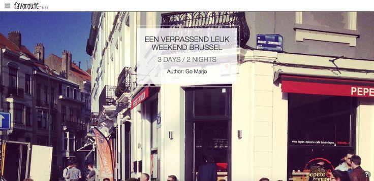 EEN VERRASSEND LEUK WEEKEND BRUSSEL by @Marjolein Vilé. http://www.peecho.com/print/en/78670