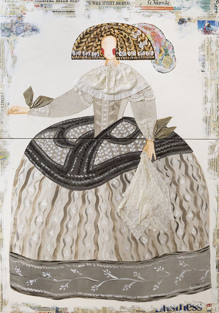 """MARIANA"" 180x120 Collage  Contemporary  art  College  Stephanie Hoppen Gallery, London  Www.mariatorroba.com"