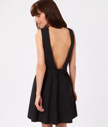 robe d collet dos et noeud novela noir etam robe pinterest. Black Bedroom Furniture Sets. Home Design Ideas