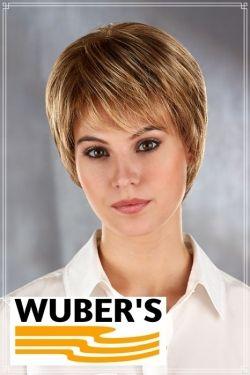 Parrucca Wuber's anche per chemioterapia capelli  in fibra parte alta lavorata a mano monofilamento modello Simona