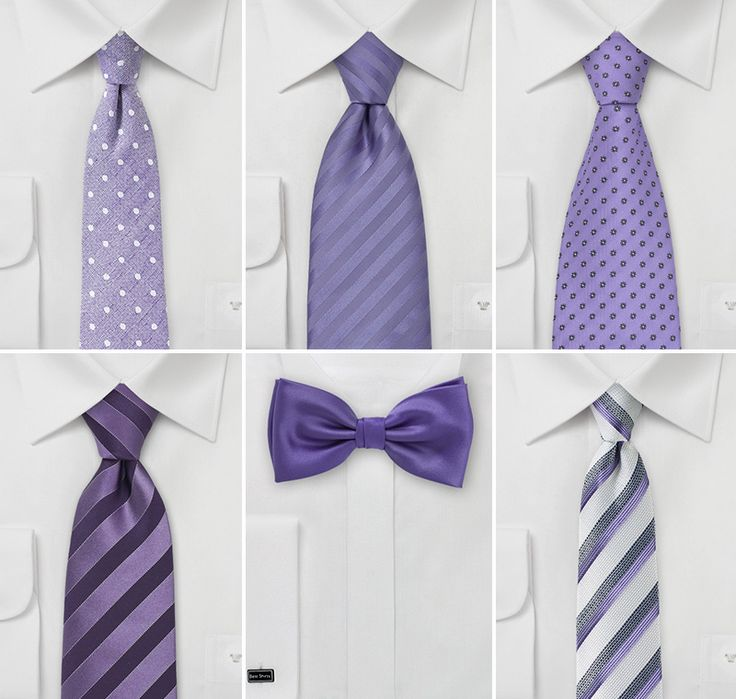 Violet Purple Groomsmen Ties  |  Wedding Ties in Violet