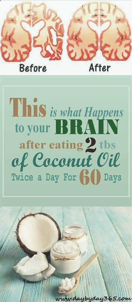 This is what Happens to your Brain after eating 2 tbs of Coconut Oil Twice a Day For 60 Days - Check This Awesome Article !!!