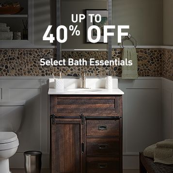 Up To 40% OFF Select Bath Essentials plus Lowes coupons 20% OFF