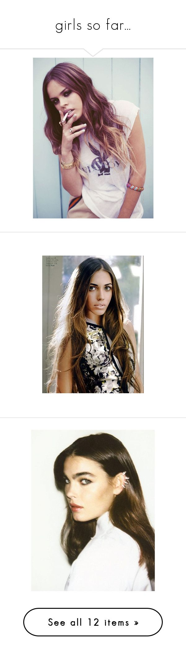 """""""girls so far..."""" by apathie ❤ liked on Polyvore featuring models, people, backgrounds, photo, pictures, cara delevingne, cara, cara delevigne and erin heatherton"""