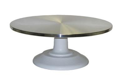 Rotating Cake Stand - Aluminum Plate at SonRidge.com.