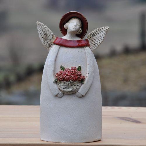 anioł cz.k / JOANNA PIOTROWSKA / Dekoracja Wnętrz / Ceramika