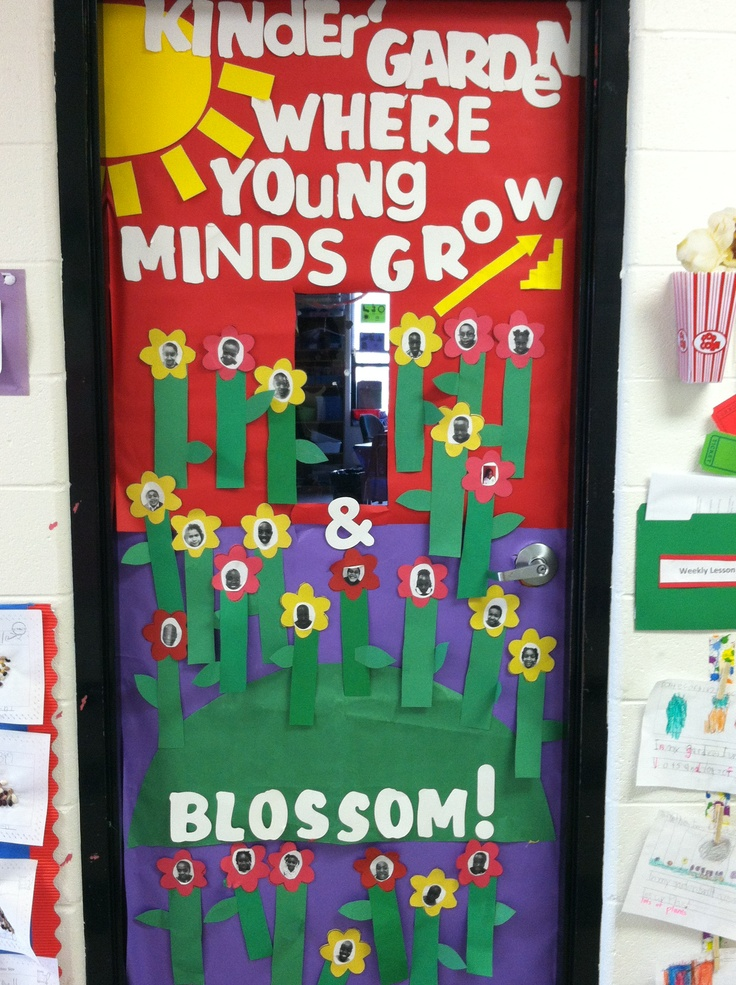 Classroom Decorations Uk ~ My april classroom door for kindergarten kinder quot garden