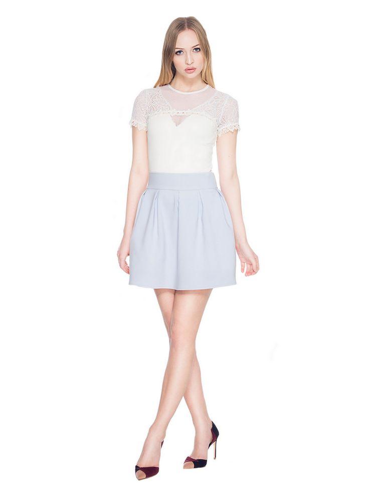 Rozkloszowana spódnica z koła SL6080G www.fajne-sukienki.pl