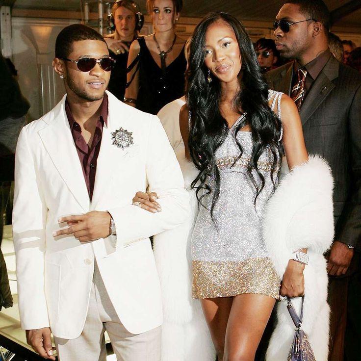 Usher and Naomi Campbell