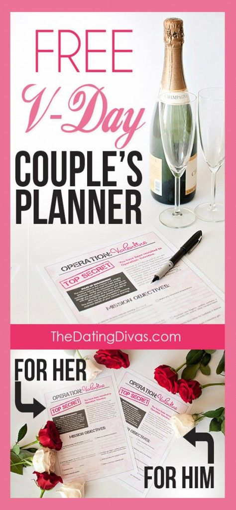 Valentine 39 s day planner for him and her couple awesome for Valentine day ideas for couples
