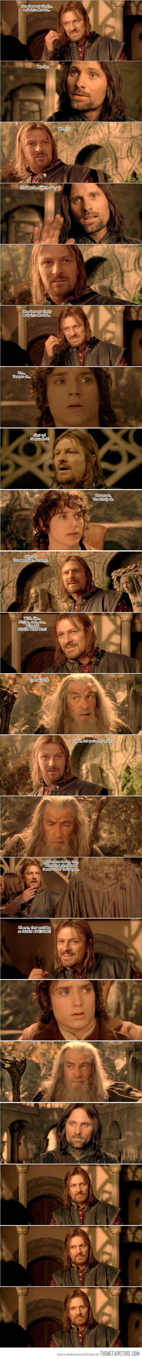 """The feature length version of the """"One does not simply walk into Mordor"""" meme."""